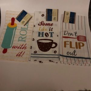 NWT kitchen linens with cute sayings
